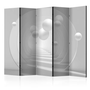 5-teiliges Paravent - 3D Tunnel II [Room Dividers]