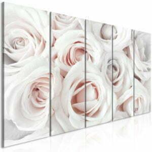 Wandbild - Satin Rose (5 Parts) Narrow Pink