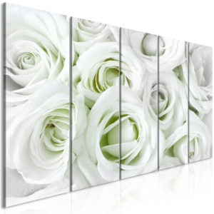 Wandbild - Satin Rose (5 Parts) Narrow Green