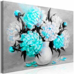 Wandbild - Fragrant Colours (1 Part) Wide Blue