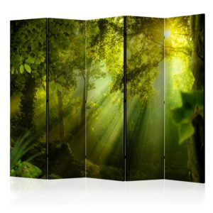 5-teiliges Paravent -  In a Secret Forest II II [Room Dividers]