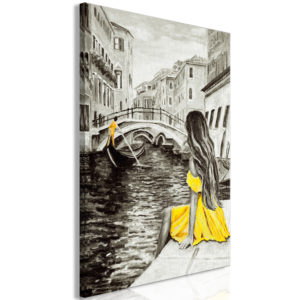 Wandbild - Far Dreams (1 Part) Vertical Yellow