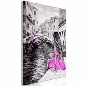 Wandbild - Far Dreams (1 Part) Vertical Pink