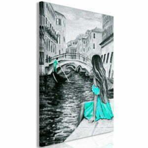 Wandbild - Far Dreams (1 Part) Vertical Blue