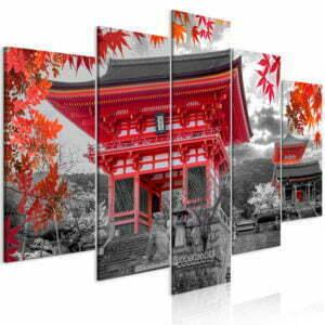Wandbild - Kyoto, Japan (5 Parts) Wide