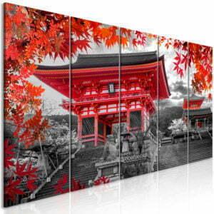Wandbild - Kyoto, Japan (5 Parts) Narrow