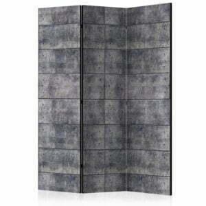 3-teiliges Paravent -  Concrete Fortress [Room Dividers]