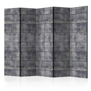 5-teiliges Paravent -  Concrete Fortress II [Room Dividers]