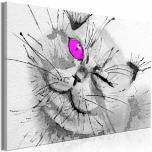Wandbild - Happy Look (1 Part) Wide Pink
