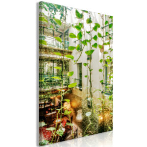 Wandbild - Cracow: Cafe with Ivy (1 Part) Vertical